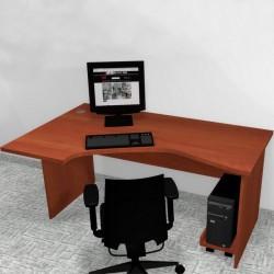 Biuro SV Eko narożne z wózkiem pod komputer
