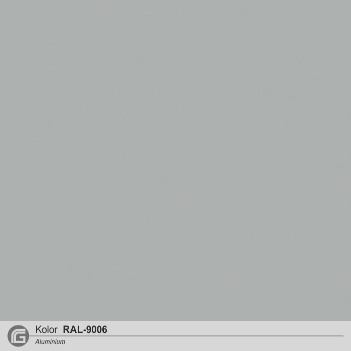 Aluminium gładki RAL-9006