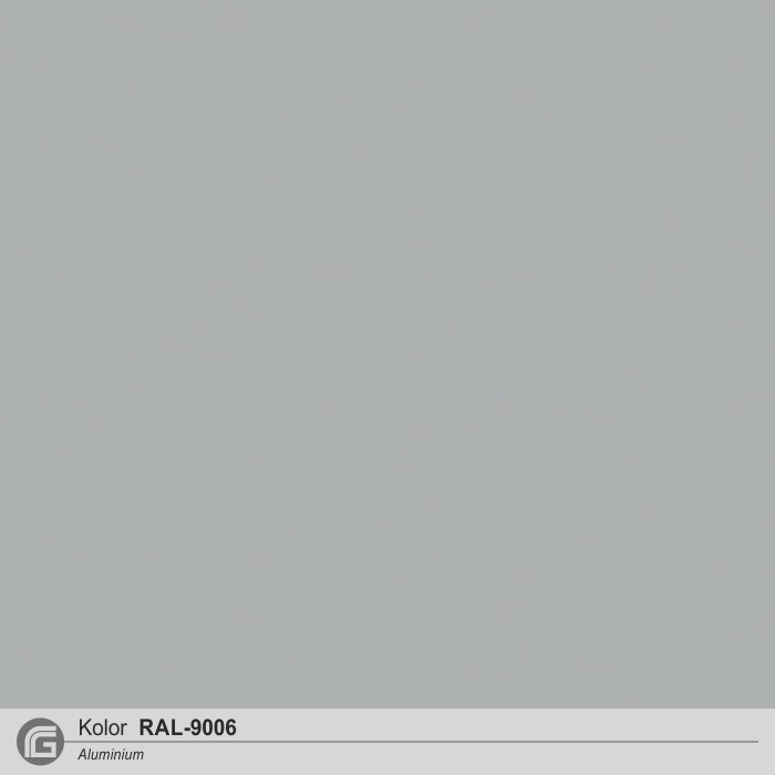 Aluminium struktura RAL-9006