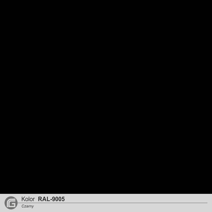Czarny RAL-9005