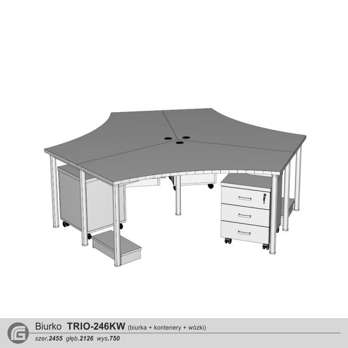 Biurko TRIO-246KW