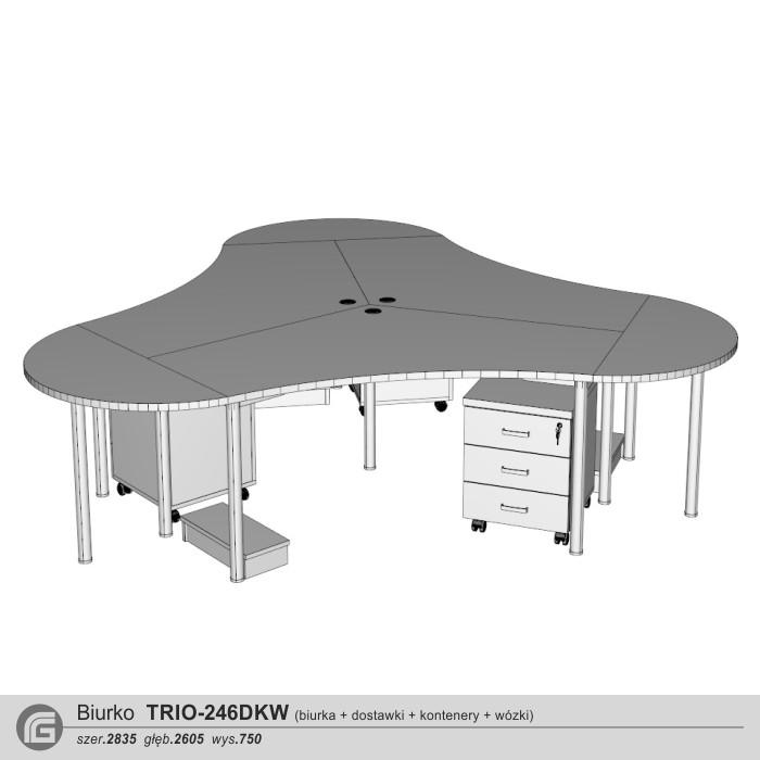 Biurko TRIO-246DKW