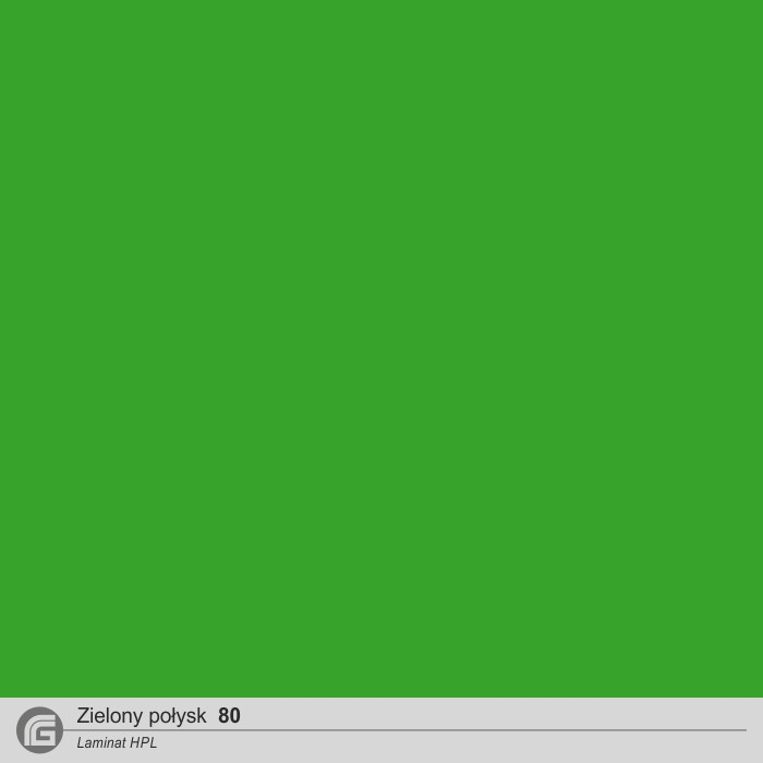 Zielony połysk HPL