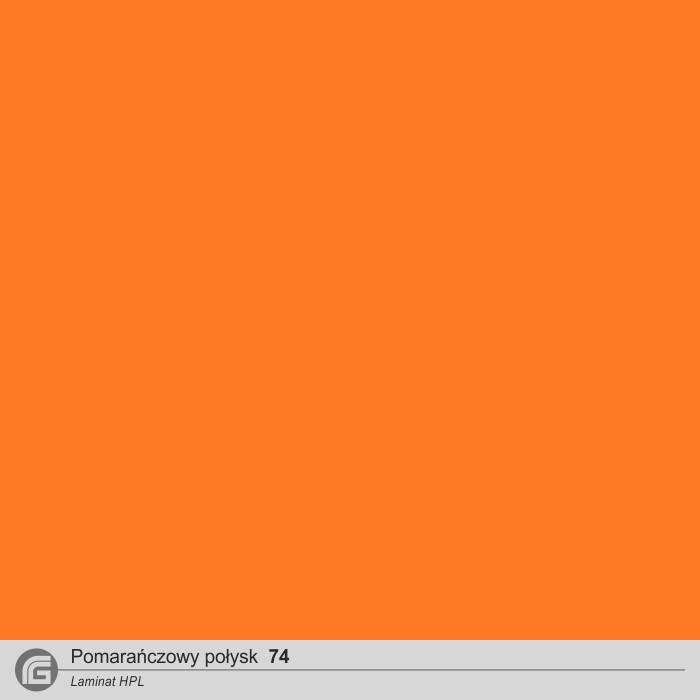 Pomarańcz połysk HPL