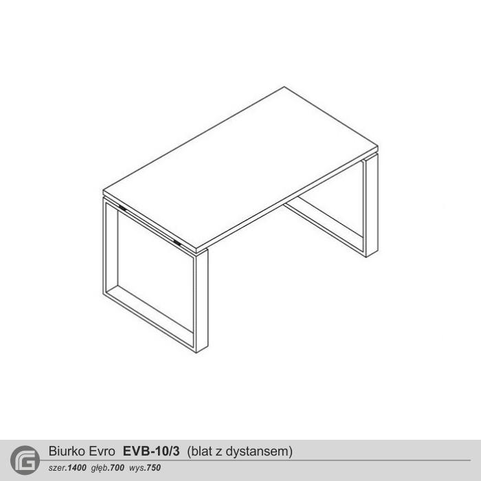 Biurko EVB 10-3 z dystansem