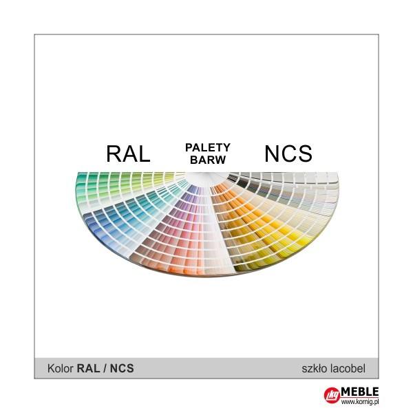 Szkło lacobel do wyboru z palety RAL i NCS